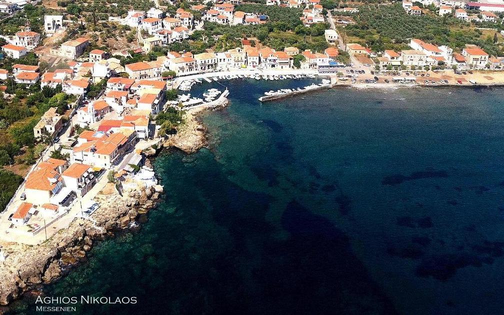 Messenien, Aghios Nikolaos, Hafen, Urlaub