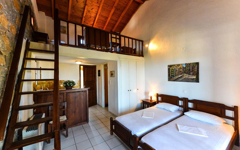 Olympia Zerveas Apartments, Schlafbereich