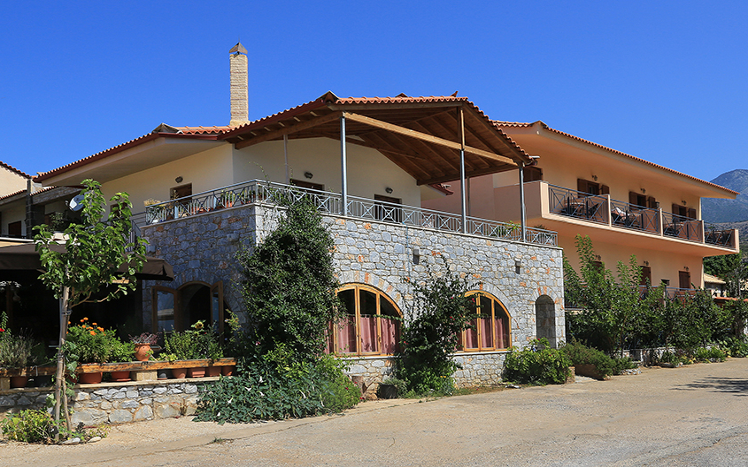 Xenios Apartments, Außen, Fassade