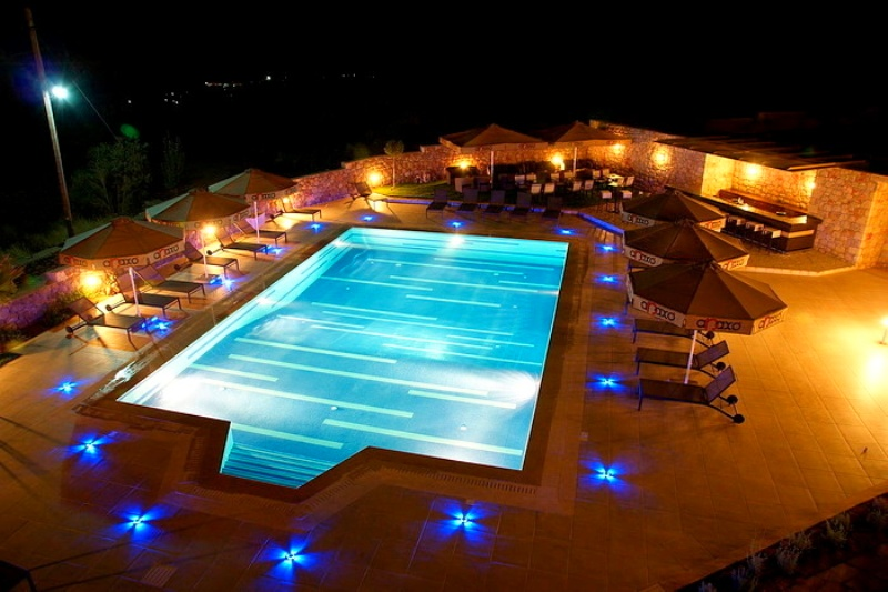 Anaxo Resort, Pool, Nacht