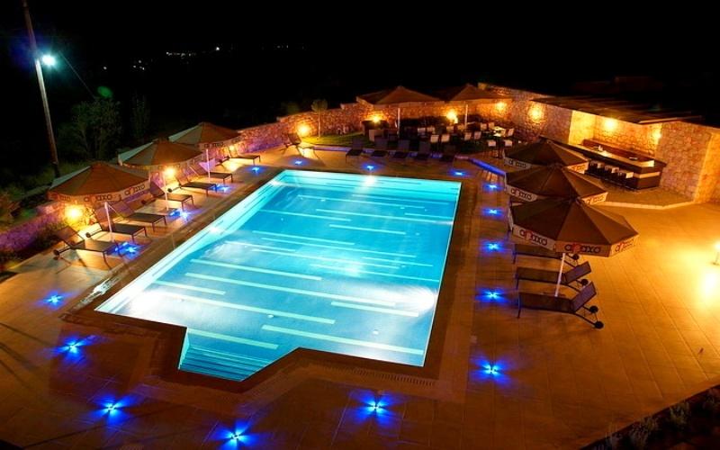 Anaxo Resort, Pool, Nacht
