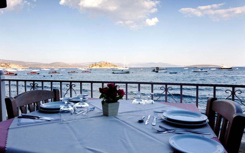 Aris Hotel, Tolo, Balkon, Meer, Blick