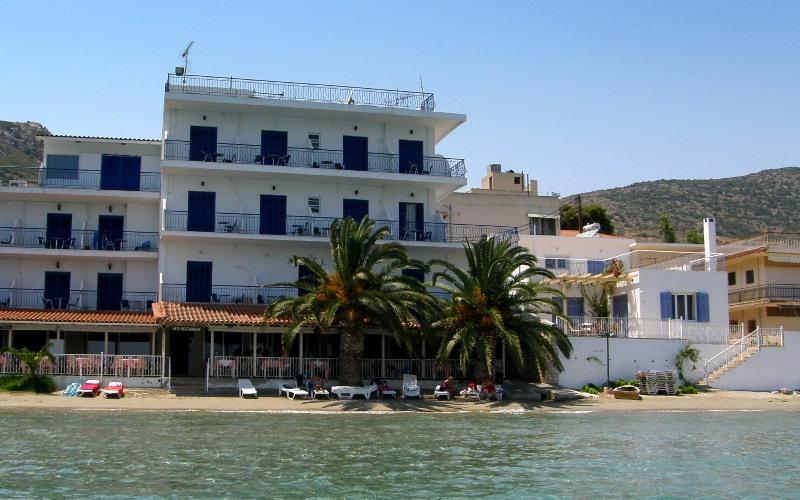 Aris Hotel, Tolo, Aussehen, Strand